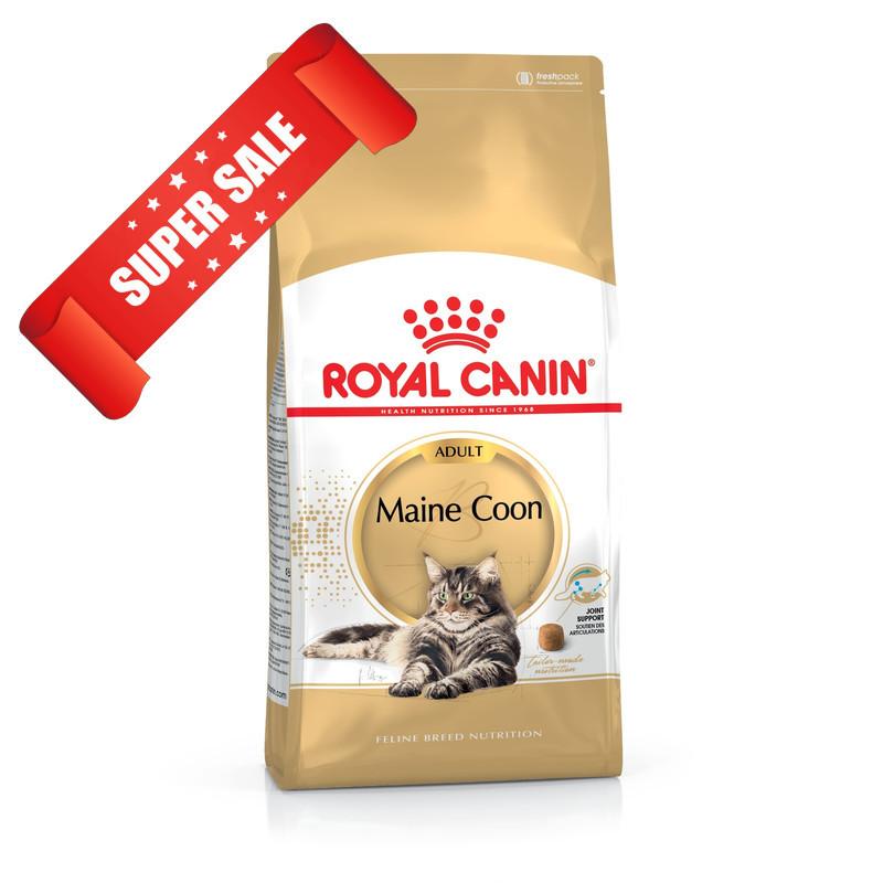 Сухой корм для котов Royal Canin Maine Coon Adult 2 кг + 3 пауча