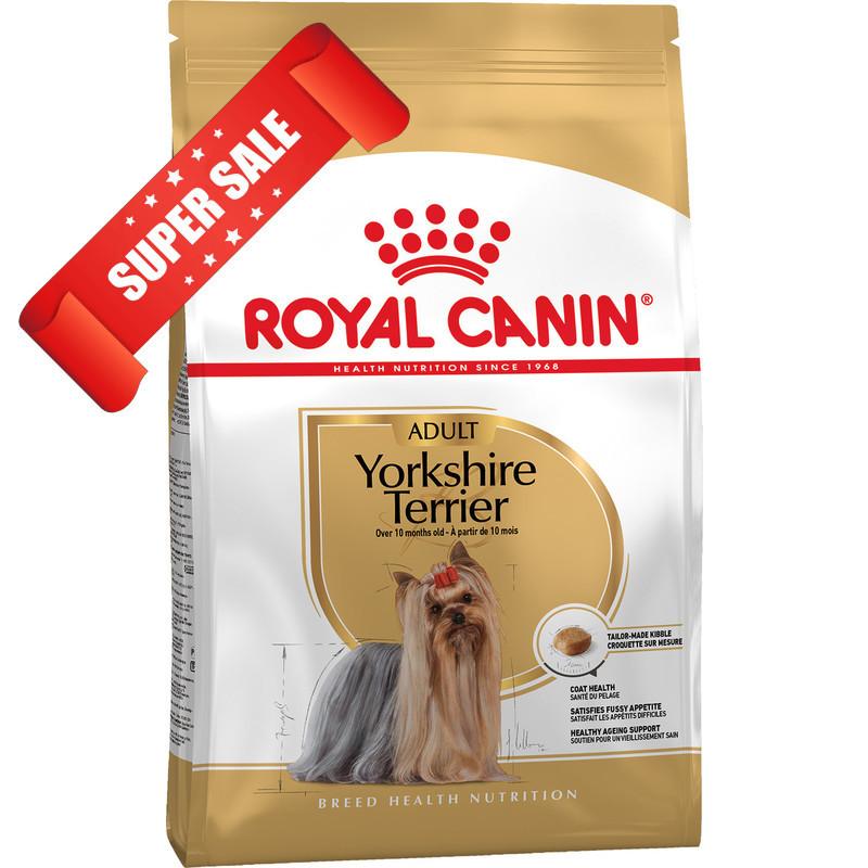 Сухой корм для собак Royal Canin Yorkshire Terrier Adult 1,5 кг + 3 пауча