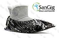 Черные Бахилы SanGig, 6 г/пара (2000 шт)