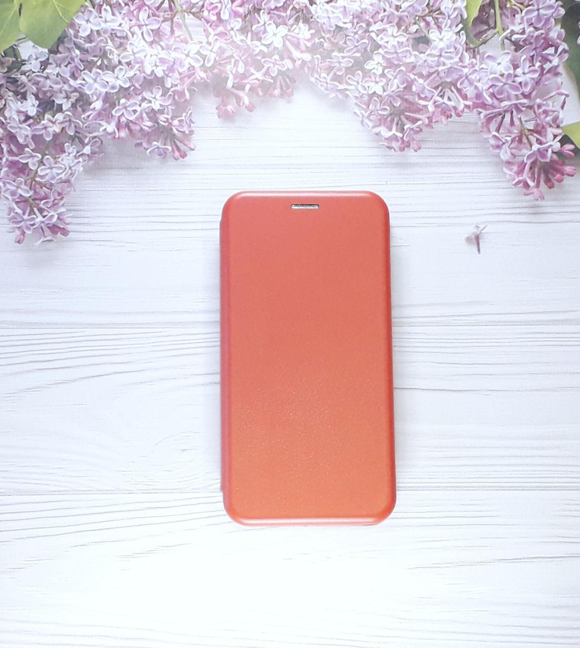 Чохол (книжка) з візитницею для Samsung M20 (2019), Red