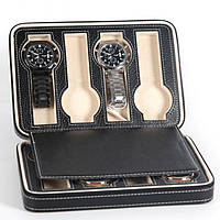 Шкатулка органайзер для хранения часов  JOCESTYLE -bit watch zipper bag до 8 часов цвет черный