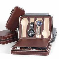 Шкатулка органайзер для хранения часов    JOCESTYLE -bit watch zipper bag до 8 часов цвет коричневый