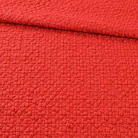 Рогожка рельефная в кубики красная, ш.144 ( 11804.001 )