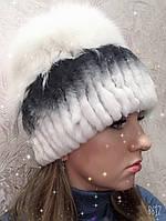 Меховая шапка женская натуральный мех шиншилла песец