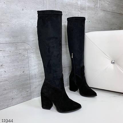 Женские сапоги на каблуке, фото 2