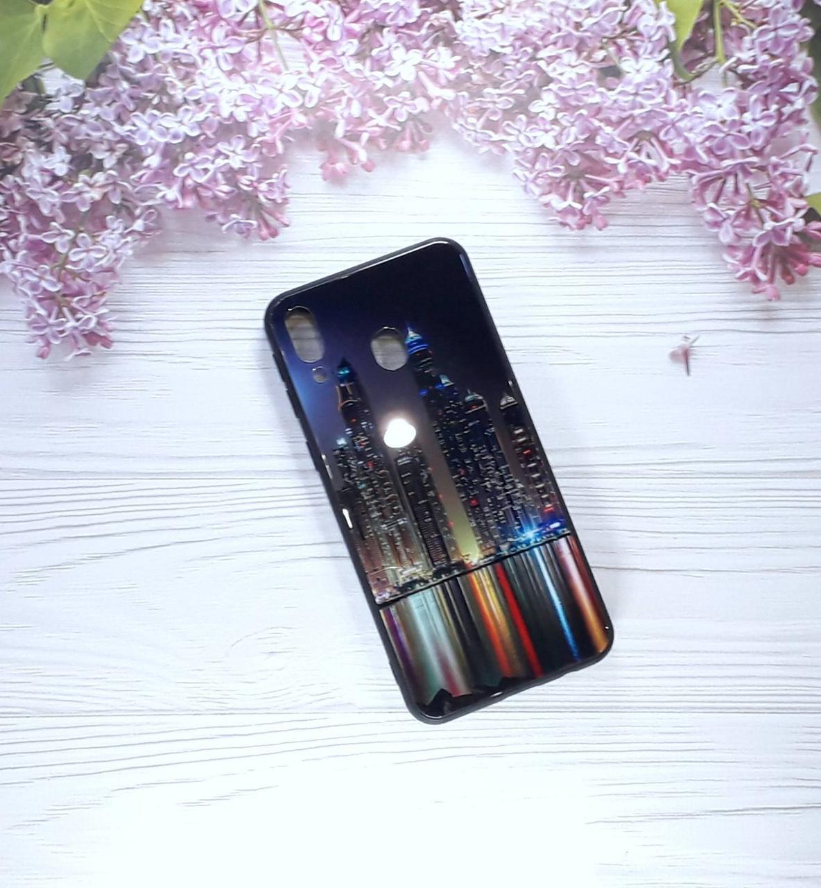 Чехол накладка Paint Glass на Samsung M20(2019), New York