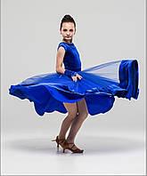 Велюровый бейсик, рейтинговое платье для спортивно-бальных танцев с двумя юбками