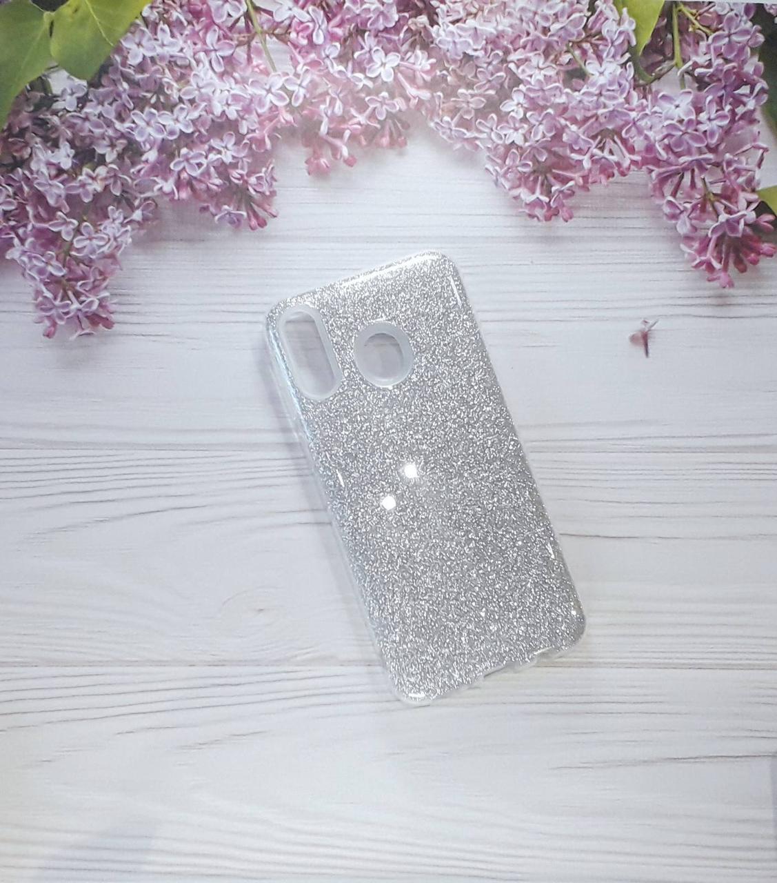 Чехол накладка Glitter на Samsung M20 (2019), Silver