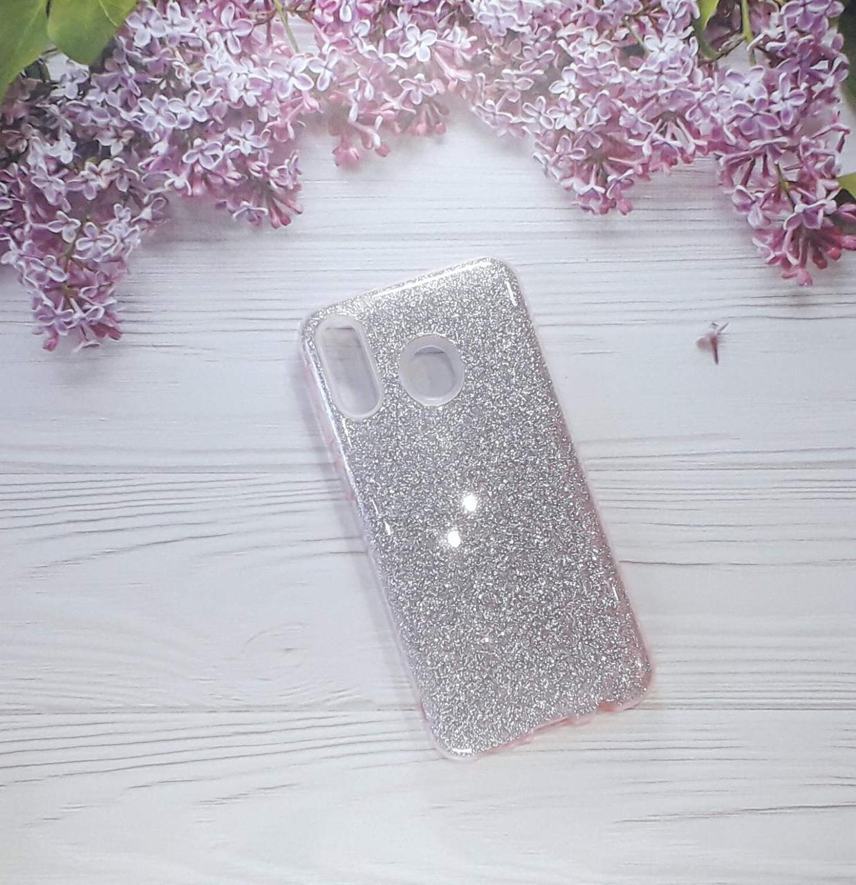 Чохол накладка Glitter на Samsung M20 (2019), Light Pink