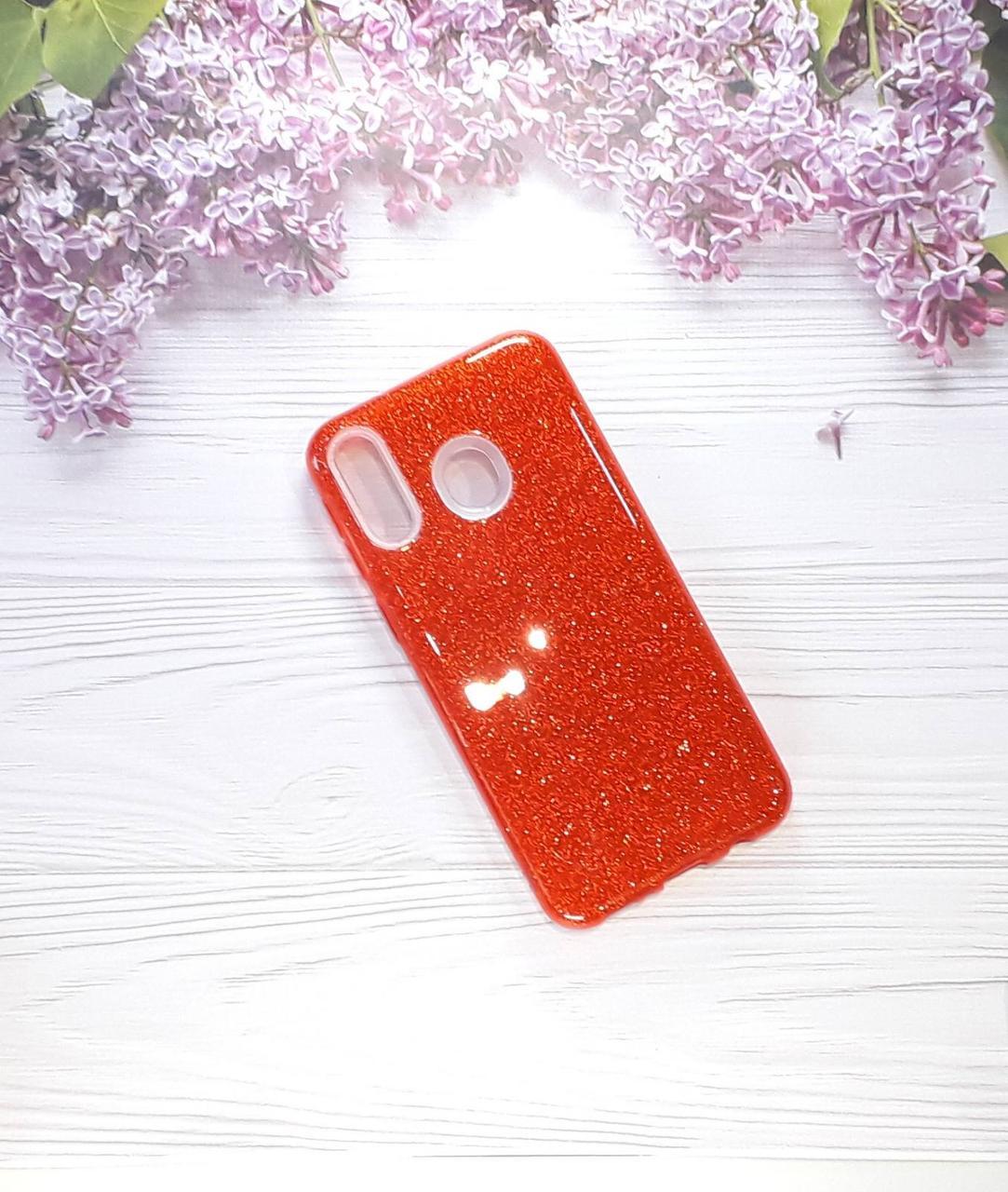 Чехол накладка Glitter на Samsung M20(2019), Red