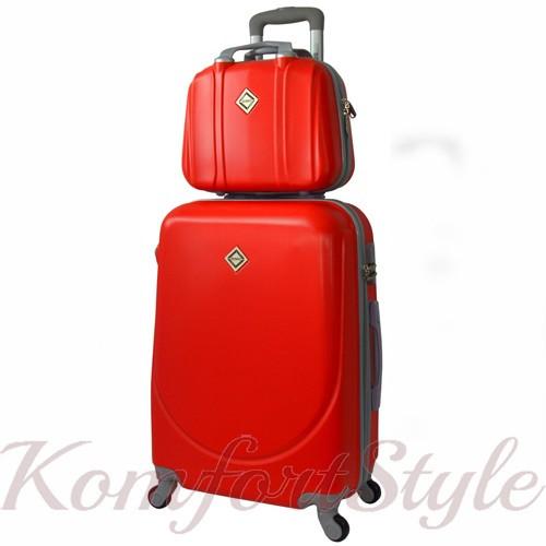 Комплект чемодан  Bonro Smile (небольшой) и кейс (средний), красный (10130207)