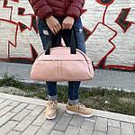 Сумка женская спортивная дорожная BagFon's 16л из искусственной кожи розовая (DS009), фото 2