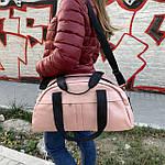 Сумка женская спортивная дорожная BagFon's 16л из искусственной кожи розовая (DS009), фото 3
