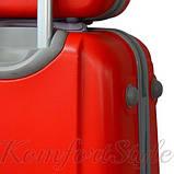 Комплект чемодан  Bonro Smile (небольшой) и кейс (средний), красный (10130207), фото 3