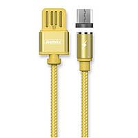 Магнитный USB кабель Remax Gravity RC-095m microUSB to USB 1m gold