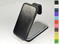Откидной чехол из натуральной кожи для Apple iPhone 3G / 3GS