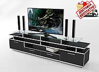 Тумба/подставка под телевизор Cinema черный/кромка белая