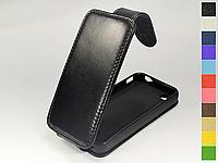 Откидной чехол из натуральной кожи для Apple iPhone 4 / 4S