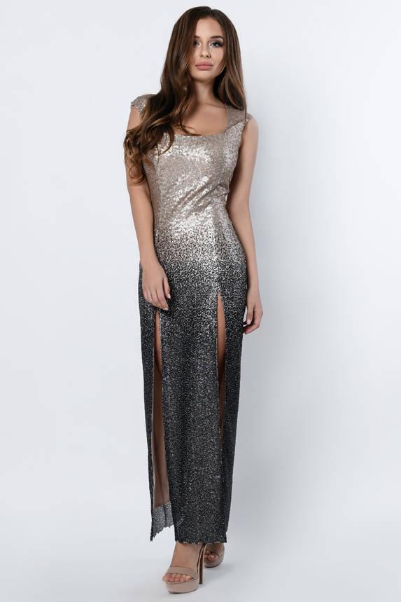 Красивое вечернее платье в пол с пайетками, фото 2
