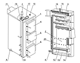 Твердотопливный котел длительного горения КВ-Т1р мощностью 12кВт, фото 3