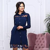 """Жіноче ошатне плаття-сорочка з мереживом """"Аріель"""", фото 1"""