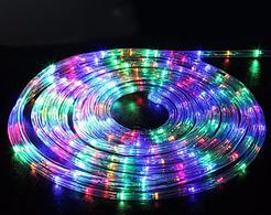 Гирлянда Дюралайт светодиодная новогодняя уличная  10 метров RGB