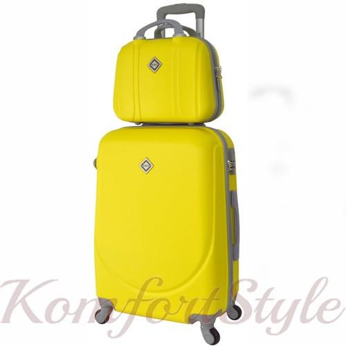 Комплект чемодан и кейс Bonro Smile большой желтый (10110302)
