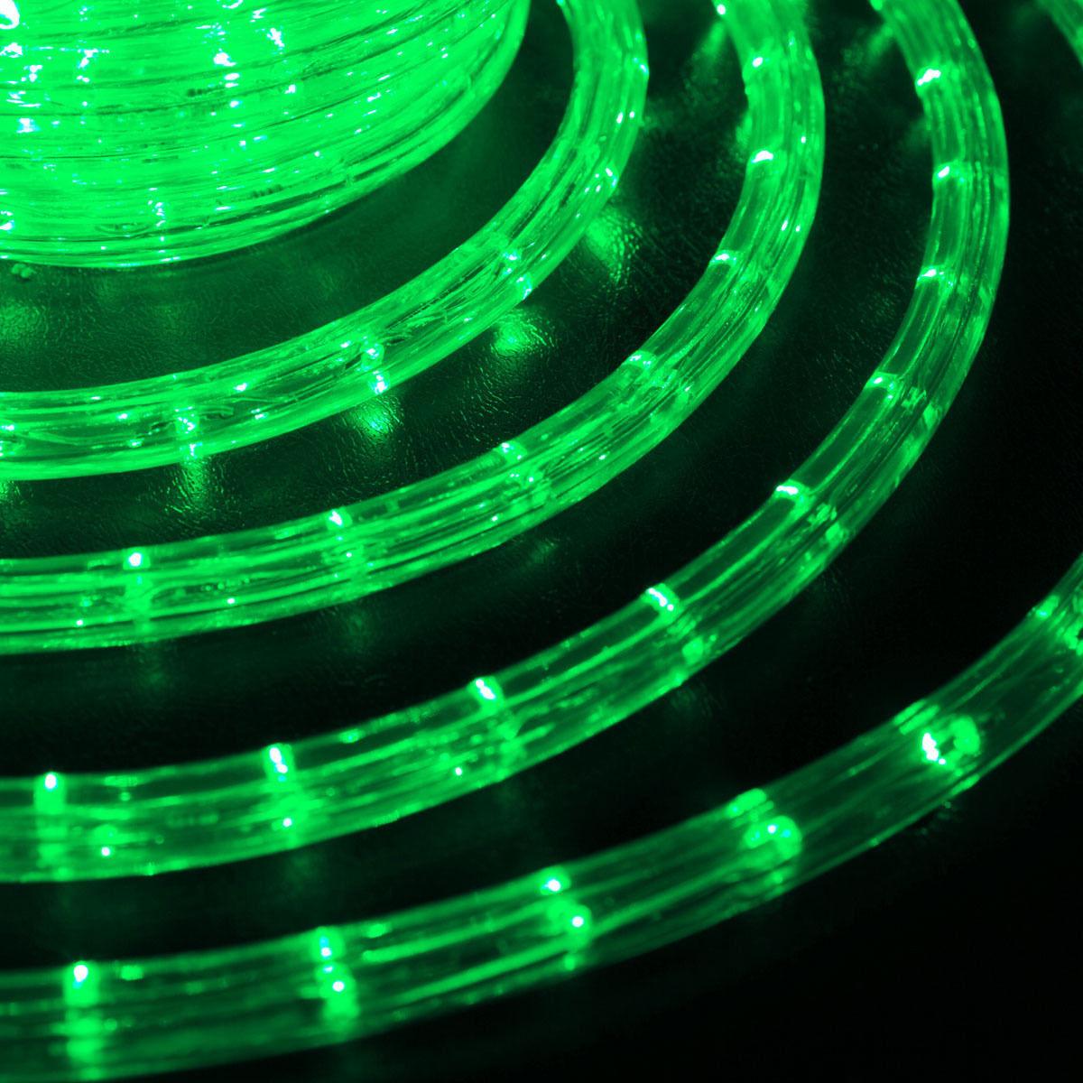 Гирлянда Дюралайт светодиодная новогодняя уличная  10 метров Зеленый