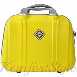 Комплект чемодан и кейс Bonro Smile большой желтый (10110302), фото 4