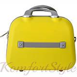 Комплект чемодан и кейс Bonro Smile большой желтый (10110302), фото 5