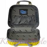 Комплект чемодан и кейс Bonro Smile большой желтый (10110302), фото 9
