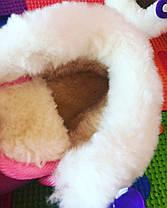 Ботинки детские на малышей с мехом холодная весна-осень  17-21 р синие, фото 3
