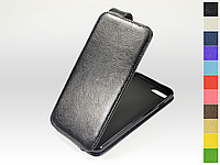 Откидной чехол из натуральной кожи для Apple iPhone 7 Plus / iPhone 8 Plus