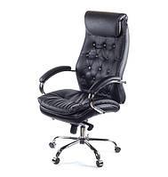Кресло Лацио • АКЛАС • CH MB чёрный, коричневый, бежевый кожа