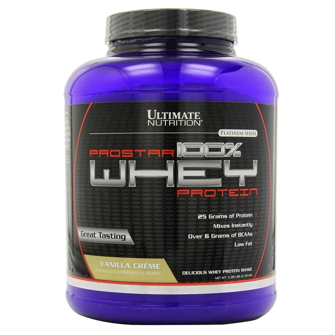 UltN PROSTAR Whey PROTEIN - 2,27 кг - ваниль, фото 1