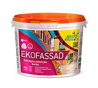 Акрилова фасадна фарба Ekofassad Nano farb 7 кг