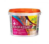 Акрилова фасадна фарба Ekofassad Nano farb 4.2 кг