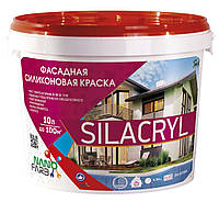 Фасадна силіконова фарба Silacryl Nano farb 10 л