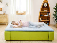 Ортопедический топпер Ролл Ап Зеленый чай +подушка +одеяло 160х200