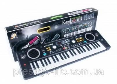 Детский обучающий синтезатор с микрофоном MQ-4912, 49 клавиш