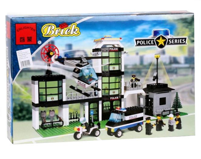 Конструктор BRICK 110 полицейский участок, развивающая игрушка, подарок для ребенка