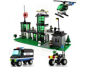 Конструктор BRICK 110 полицейский участок, развивающая игрушка, подарок для ребенка, фото 3