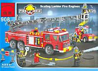 Конструктор Brick 908 Пожарная охрана, развивающая игрушка, подарок для ребенка