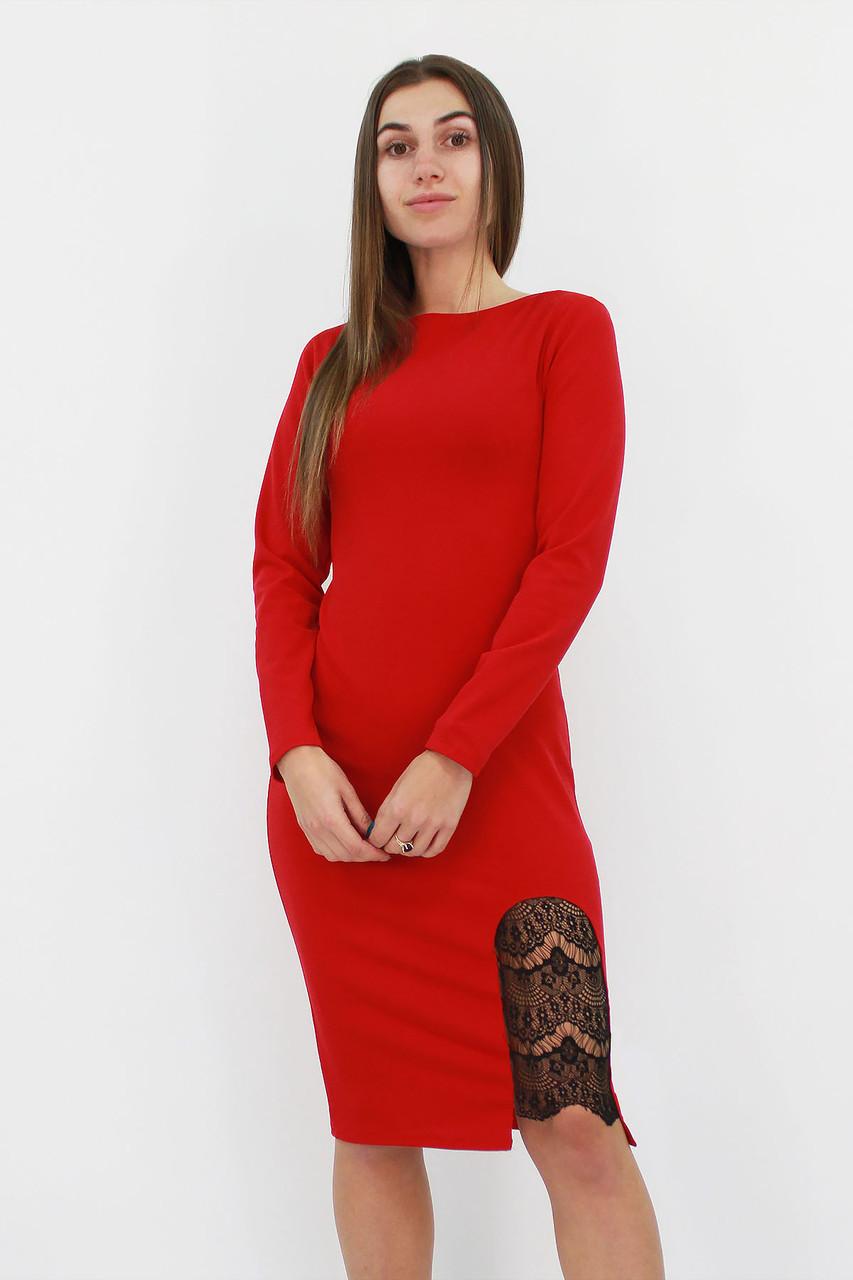 S | Коктейльне жіноче плаття-футляр Romania, червоний