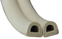Уплотнитель самоклеющийся резиновый белый Stomil D-тип 9*7.5 мм (бухта 100 м)