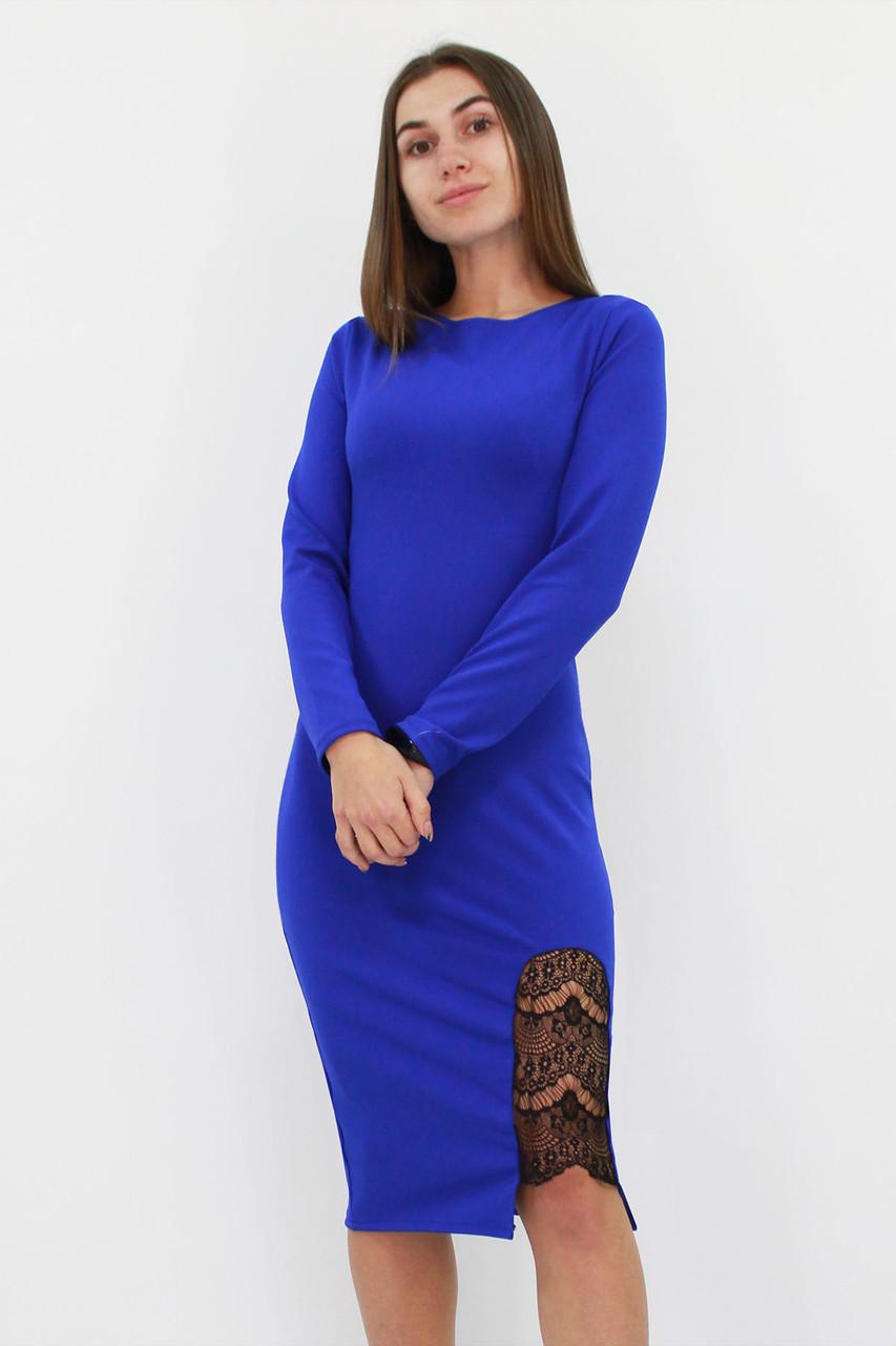 S   Коктейльне жіноче плаття-футляр Romania, синій