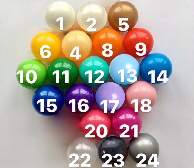 варианты цветов шариков для сухого бассейна