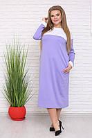 Женское свободное теплое платье большого размера (р. 42-90) арт. Аэлита