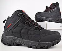 Зимние мужские ботинки Merrell Waterproof черные с красным 41-45 рр. Живое фото. Реплика