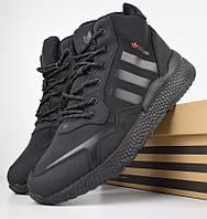 Зимние мужские кроссовки Adidas Jogger черные 41-46рр. Живое фото. Реплика